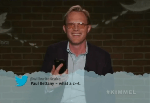 Photograph - @willwrite4cake Paul Bettany- what a ct #KIMMEL