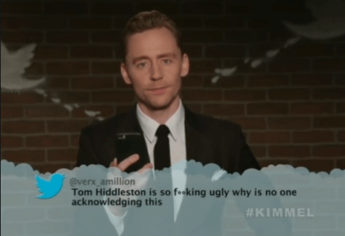 Photograph - @verx amillion Tom Hiddleston is so foeking ugly why is no one acknowledging this #KIMMEL