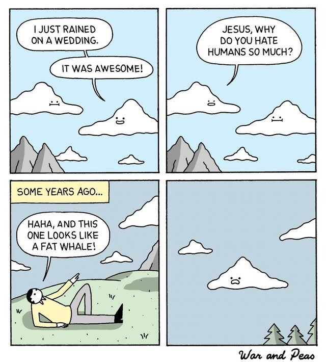 comic about a cloud hating humans