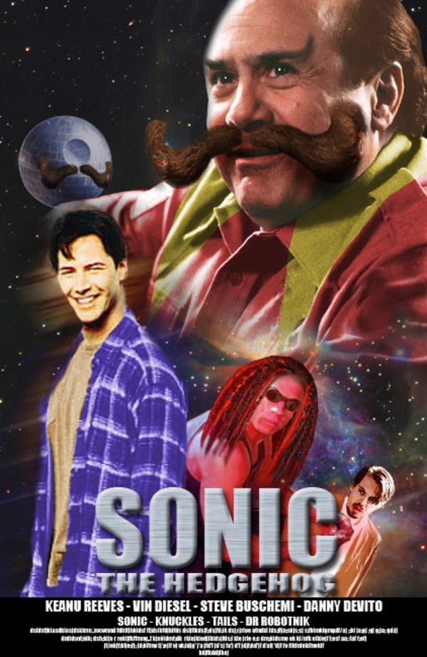 Funny meme making fun of the Sonic the Hedgehog movie