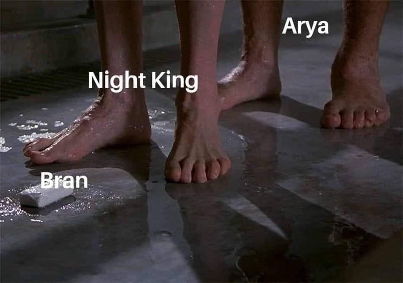 dank memes - Leg - Arya Night King Bran