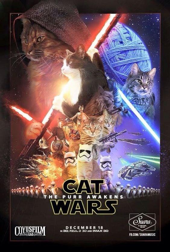 Poster - CAT WARS uora THE PURR AWAKENS DECEMBER 18 a COYUSEILM N 3D, REAL D 3D AND IMAX 3D Ltde FB.COM/SUARAMUSIC