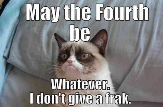 Cat - May the Fourth be Whatever. I don't give a frak