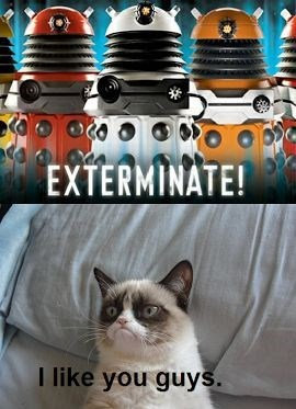 Cat - EXTERMINATE! like you guys.