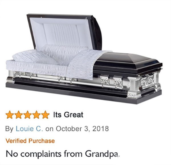 Product - Its Great By Louie C. on October 3, 2018 Verified Purchase No complaints from Grandpa.