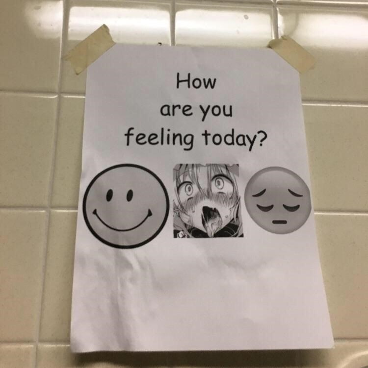 Facial expression - How are you feeling today?