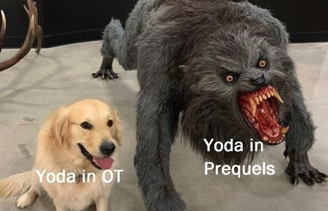 Vertebrate - Yoda in Prequels Yoda in OT