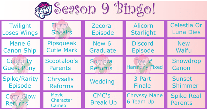season 9 common ground bingo - 9302005760