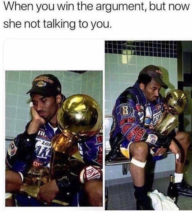 meme about winning a fight with your girlfriend