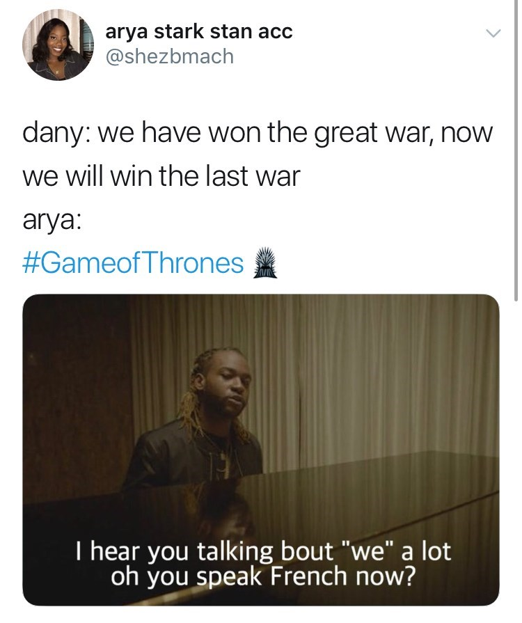 'Game of Thrones' Season 8 Episode 4: dany: we have won the great war, now we will win the last war.