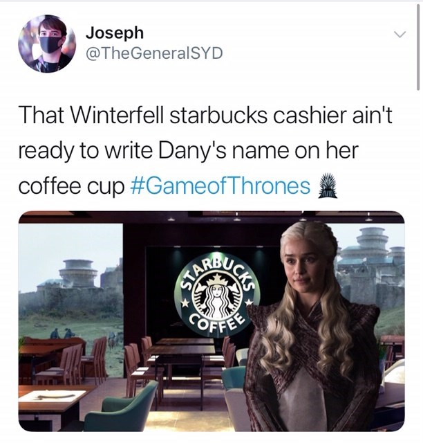 Game of Thrones season 8 episode 4 coffee cup