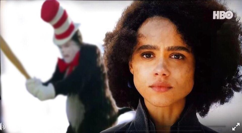 Game of Thrones Season 8 Episode 4 of the cat in the hat and Missandei