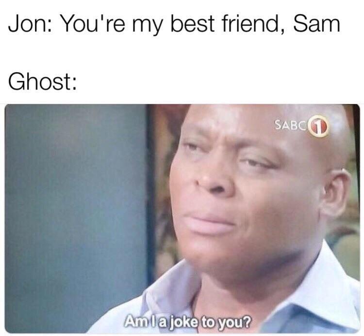 Game of Thrones Season 8 Episode 4 about john ignoring poor ghost
