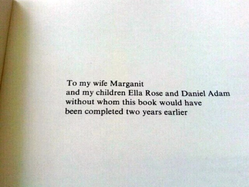 Text - To my wife Marganit and my children Ella Rose and Daniel Adam without whom this book would have been completed two years earlier