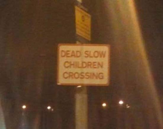 Signage - DEAD SLOW CHILDREN CROSSING
