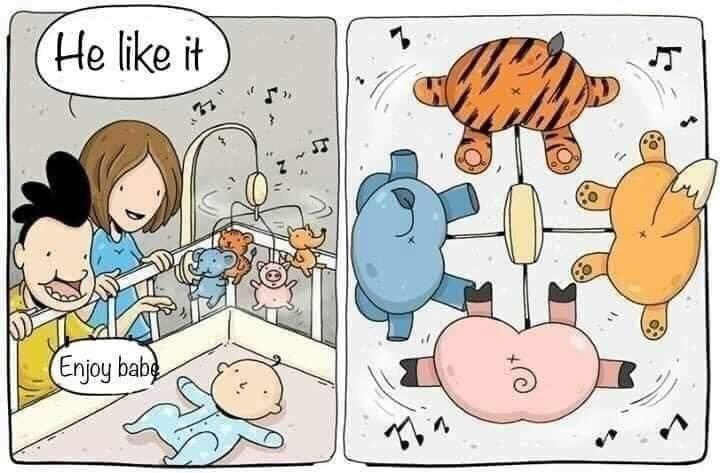 Cartoon - (He like it Enjoy babg T