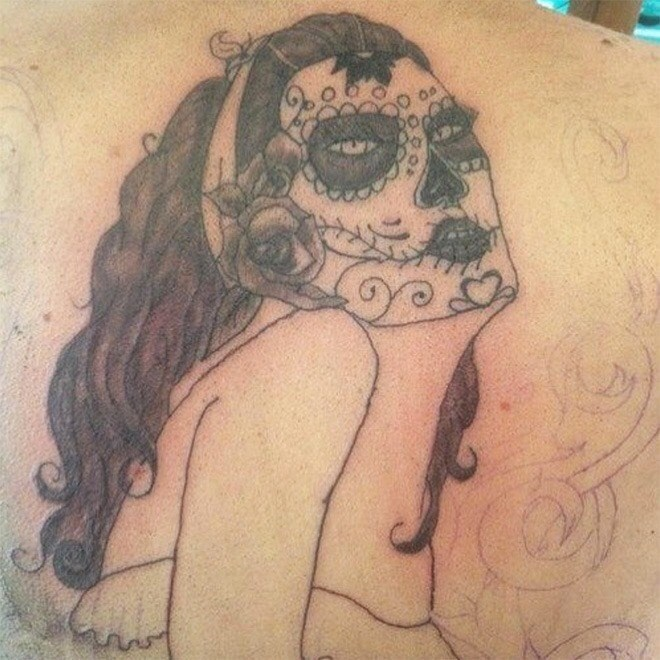 tattoo fail - Face