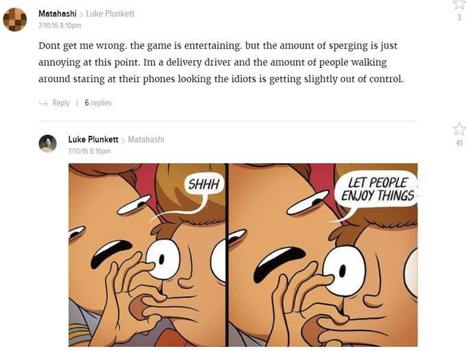 'Let People Enjoy Things' meme that shows someone chastising someone for liking a certain game