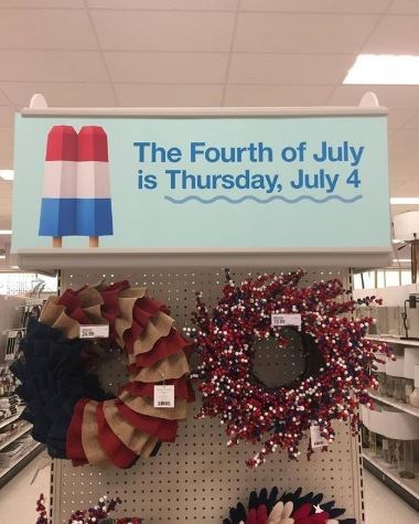 Wreath - The Fourth of July is Thursday, July 4