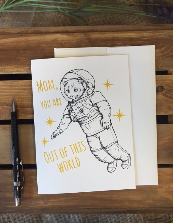 Drawing - MOM YOU ARE OUT OF THIS WORLD 05m Dentl P205