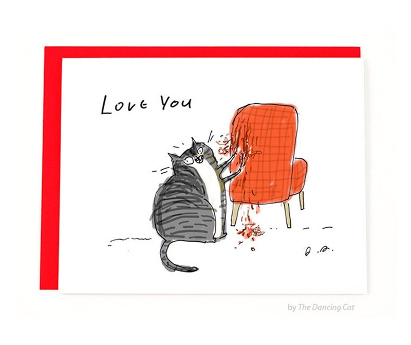 Cartoon - Love You by The Dancing Cat