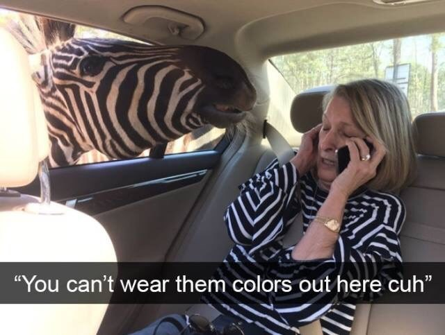 """Car seat - """"You can't wear them colors out here cuh"""""""