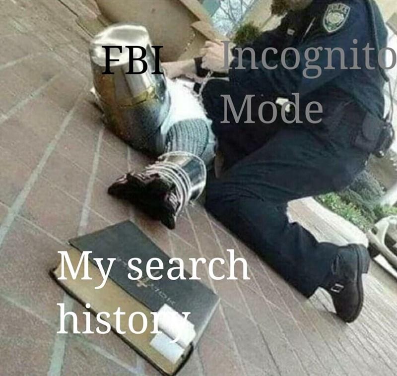 Leg - Incognito Mode FBI My search histo