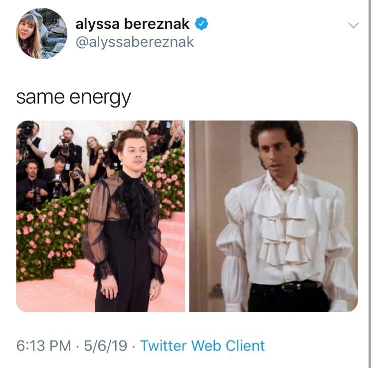 Product - alyssa bereznak @alyssabereznak same energy 6:13 PM 5/6/19. Twitter Web Client >