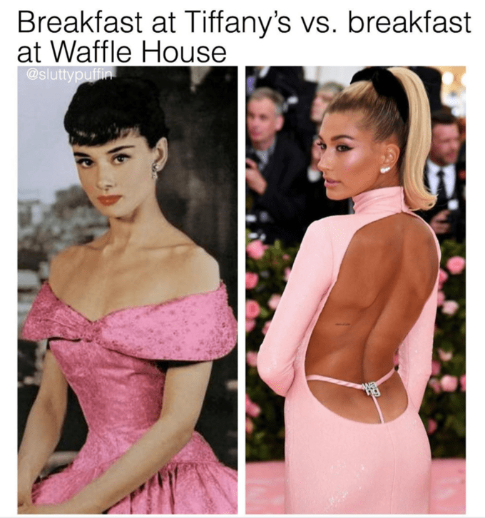 Hair - Breakfast at Tiffany's vs. breakfast at Waffle House @sluttypuffin