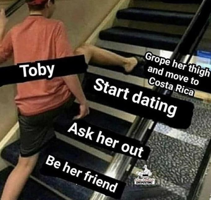 "Funny ""Skipping Steps"" meme about Toby from The Office"