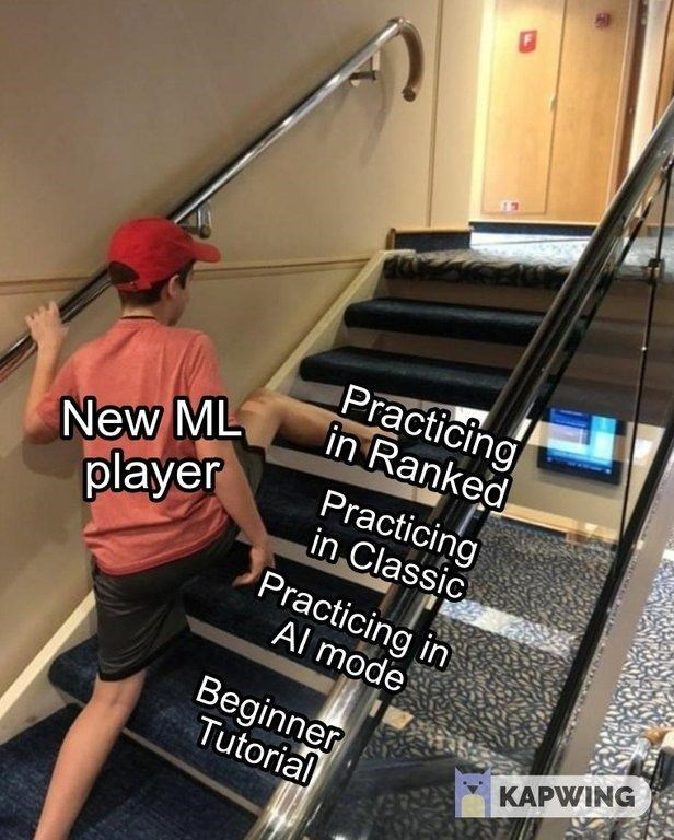 "Funny ""Skipping Steps"" meme about new ML players"