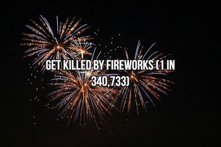 Fireworks - GET KILLED BY FIREWORKS (1 IN 340,733)