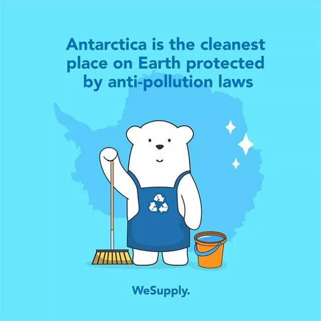 Cartoon - Antarctica is the cleanest place on Earth protected by anti-pollution laws WeSupply.