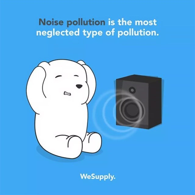 Cartoon - Noise pollution is the most neglected type of pollution. WeSupply.