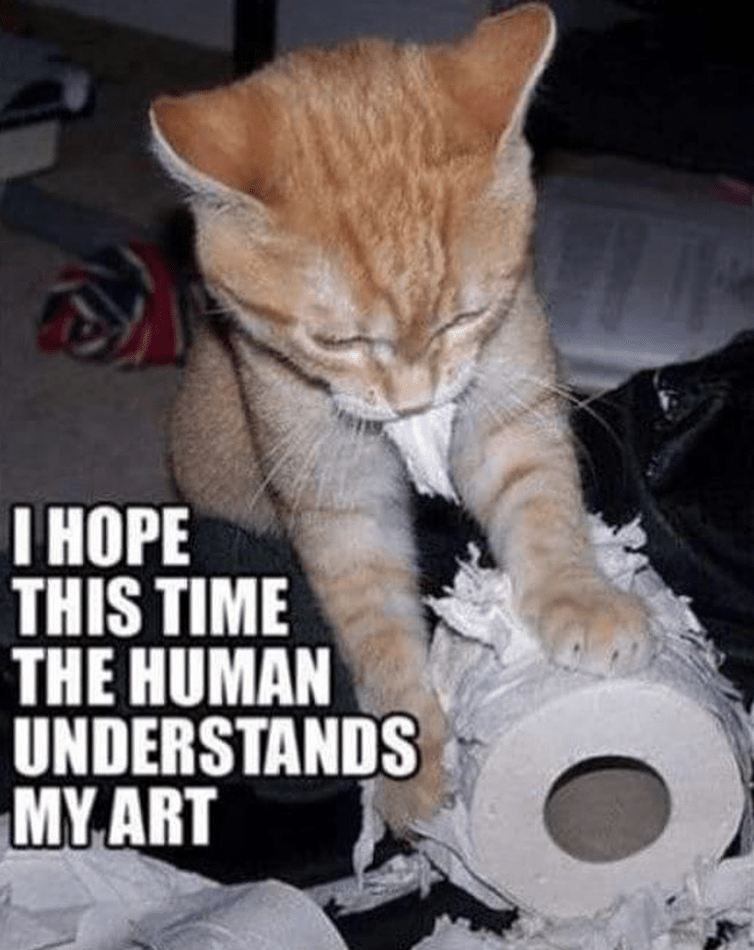 Cat - |НОРЕ THIS TIME THE HUMAN UNDERSTANDS MYART