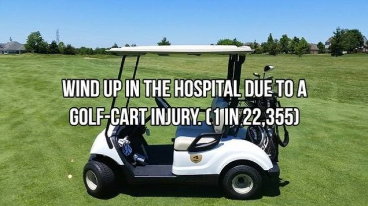 Golf cart - WIND UP IN THE HOSPITAL DUE TO A GOLF CARTINJURY LjIN 22,355)