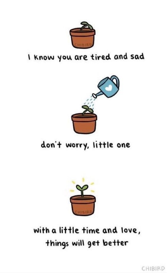 wholesome meme - Text - SHISIR I Know you are tired and sad don't worry, little one CHISIRD with a little time and love, things will get better CHIBIRD