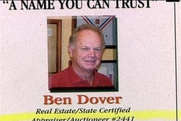 """Text - """"A NAME YOU CAN TRUST Ben Dover Real Estate/State Certified 4thraiser/4uctioneer #2441"""