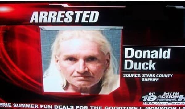 News - ARRESTED Donald Duck SOURCE: STARK COUNTY SHERIFF 511 PM ACTION NEWS I9ACtionnews. MONSOON 81 19 ERIE SUMMER FUN DEALS FOR THE GOONTIMEL