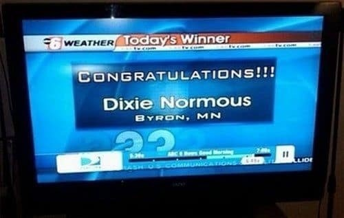 Screen - WEATHER TOday's Winner treom CONGRATULATIONS!!! Dixie Normous BYRON, MN d rsng LIDE COMMUNICATIONS