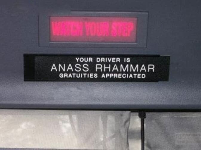 Display device - VW VOUR STEP YOUR DRIVER IS ANASS RHAMMAR GRATUITIES APPRECIATED