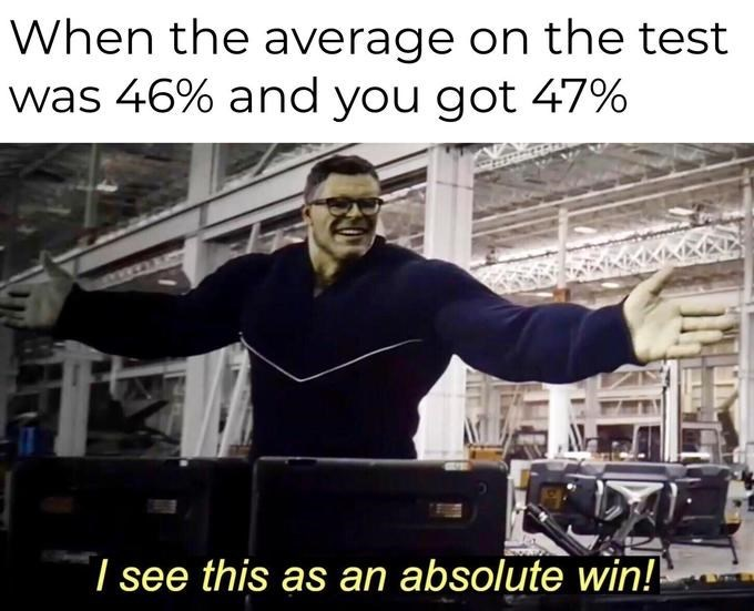 """Trending meme entitled """"I See This As An Absolute Win"""" featuring the Hulk in """"Avengers: Endgame"""""""