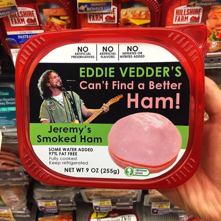 Funny meme, ham, can't find a better ham, obvious plant.