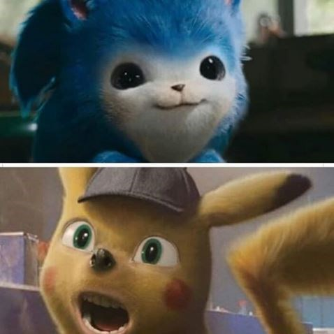 Funny edit of Sonic the Hedgehog - Detective Pikachu