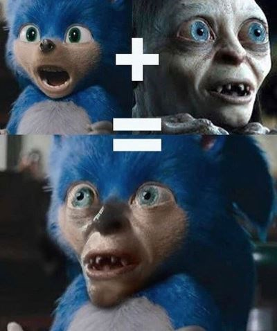 Funny edit of Sonic the Hedgehog - Gollum, Lord of the Rings