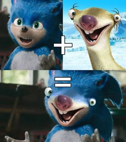 Funny edit of Sonic the Hedgehog - Ice Age