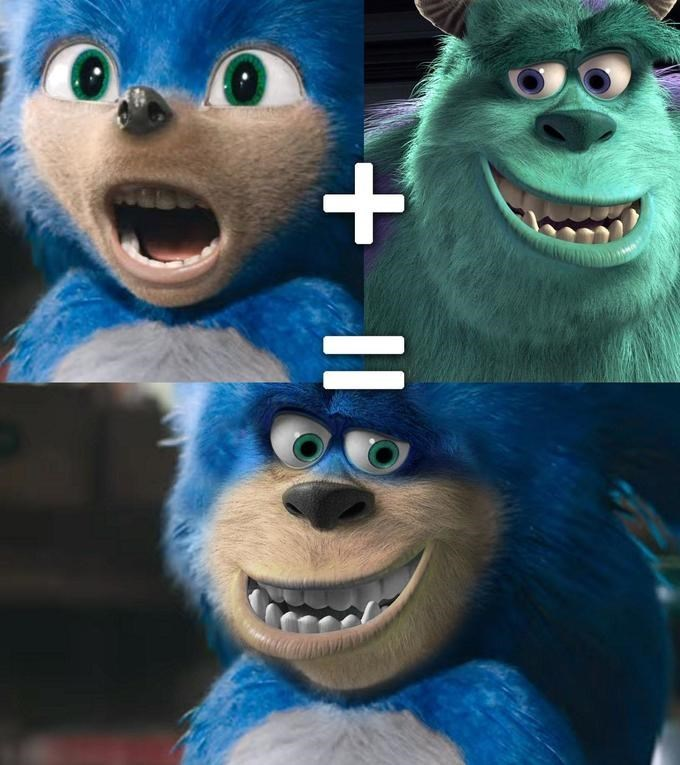Funny edit of Sonic the Hedgehog - Sully, Monster's Inc
