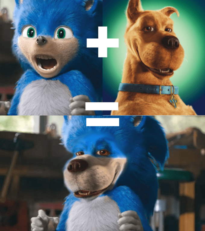 Funny edit of Sonic the Hedgehog - Scooby Doo