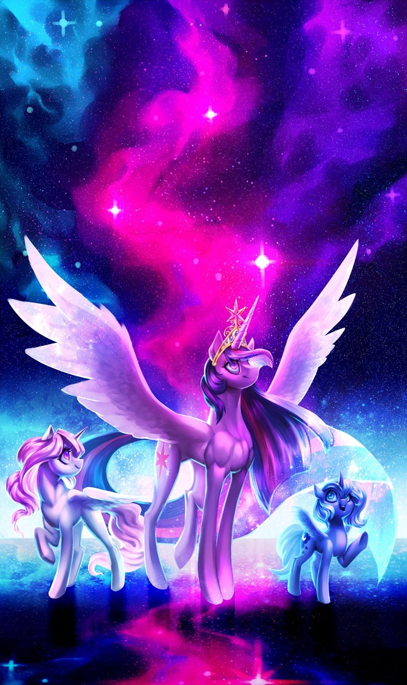 glitteronin twilight sparkle woona princess luna princess celestia - 9304232704