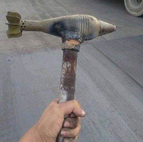 cursed image - Product hammer with weapon on it
